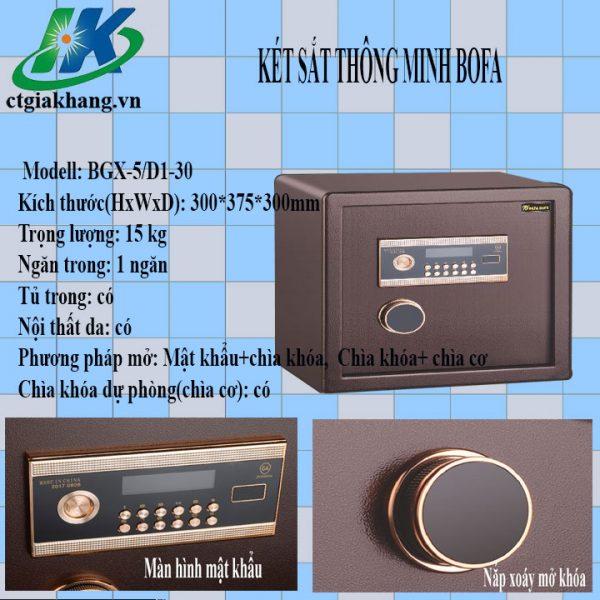 Két sắt điện tử an toàn BGX-5D1-30