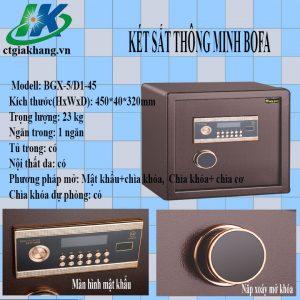 Két Sắt điện Tử Nhập Khẩu Bofa BGX-5D1-45