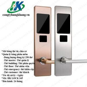 Khóa Thẻ Từ Cảm ứng Mở Bằng Thẻ Từ HK LOCK 345