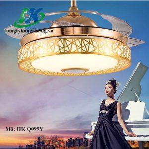 Quạt đèn Trần đa Màu Có Loa Nghe Nhạc HK Q099V